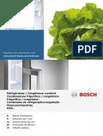 manual del frigorifico bosch