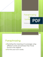 Professional Psych  Paraphrasing and Synthesizing  030119.pptx