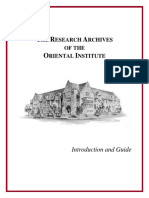 Research Archives Introduction&Guide