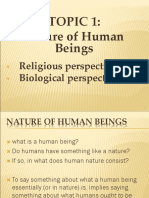 t1 Nature of Human Beings