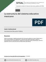 Estructura del sistema educativo en mexi
