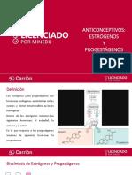Anticonceptivos, Estrógenos y Progestágenos
