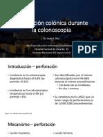 Perforacion en Colonoscopia
