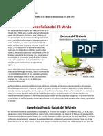 Beneficios Del Te-Verde - Mercola