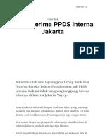Tips Diterima PPDS Interna Jakarta