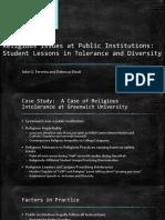 religious issues at public institutions