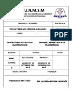 Informe N02 Circuitos Electrónicos