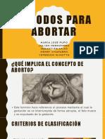 Métodos Para Abortar