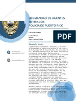 Carta a Ser Referida Al Sr. Elmer Román Director Del Depto de Seguridad Pública de P.R.