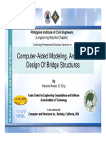 Modeling and Analysis of Bridges PICE Manila May 2009