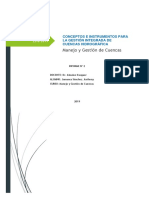 Conceptos e Instrumentos Para La Gestión Integrada de Cuencas Hidrográfica