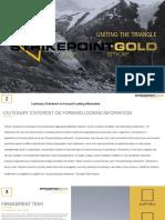 Strike Point Gold Corporate Presentation