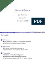 Maximenko Matriz de Toeplitz