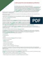 Ordenando y analizando sobre proyectos sociocomunitarios productivos