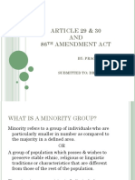 Article 29 & 30