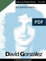 David Gonzáles antalogía de poesía social