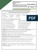 1 Lista Exercícios Compostos de Coordenação