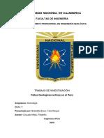 Fallas Activas Peru