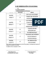 "Programa de Orientaciã""n Vocacional Cronograma 2017[1]"