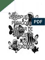 Propuesta Pedagogica Hogar de Bienmestar Los Pescaditos