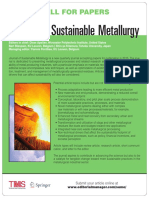 Sustainable metallurgy