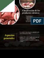 Clasificación de Los Productos Cárnicos