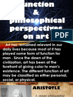 LESSON 3 Function and Philosophical Perspective of Art