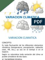 19 - VARIACION CLIMATICA