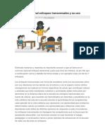 Currículo Nacional Enfoques Transversales y Su Uso