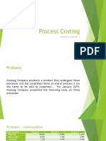Process Costing Solution to Quiz