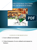 Social and Cultural Factors Affecting Business in India