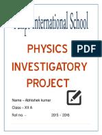296459875 Physics Investigatory Project Abhishek Class Xii (1)