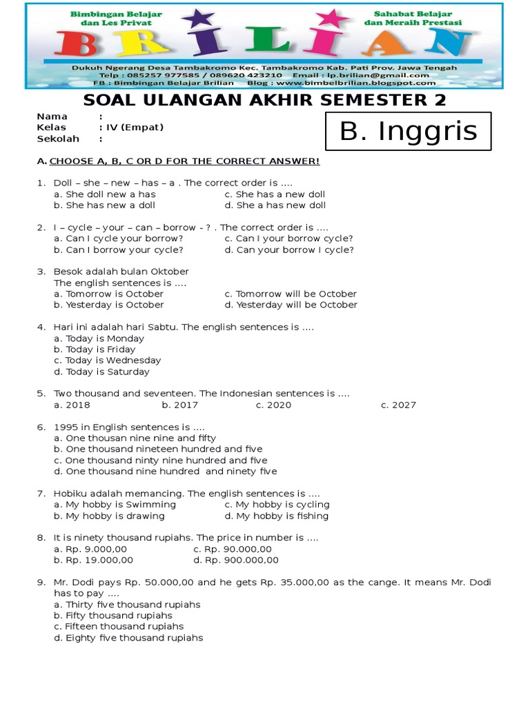 46++ Soal bahasa inggris tentang for example and such as information