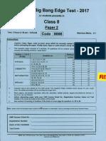Class 8 Paper 2 - 8008 Big Bang 2017