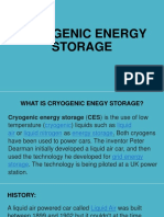 Cryogenic Energy Storage