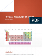 Physical metallurgy of nickel
