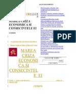 Marea Criza Economica Si Consecintele Ei
