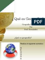¿Qué Es Geografía