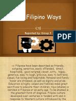 Ethics report filipino ways