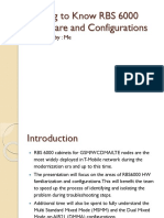 RBS 6000 HW Familiarization and Configurations