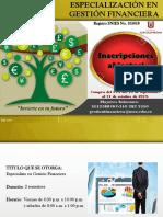 Especialización en gestión financiera
