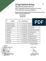 11. 2019-2020 Gasal - Jadwal s2 Th 19 Kelas Smg