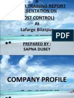 LCM Summer Training Project Cost Control Lafarge Bilaspur.ppt