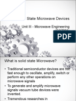 Solid State Microwave Devices- Unit III