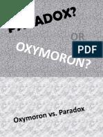 Oxymoron vs. Paradox-0