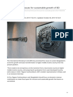 IMF Focuses Five Issues for Sustainable Growth of BD