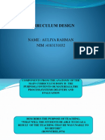Curruculum Design Ppt