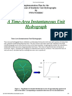 Time-Area Unit Hydrograph