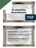 Discrete and Binomial Distribution