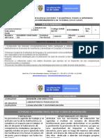 Informe de Lloro Primera Semana de Ciclo Dos